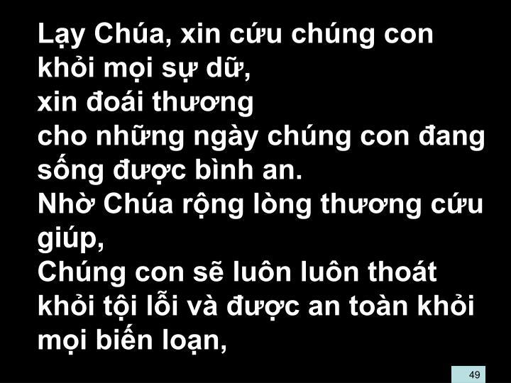 Ly Cha, xin cu chng con khi mi s d,