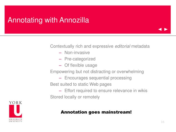 Annotating with Annozilla