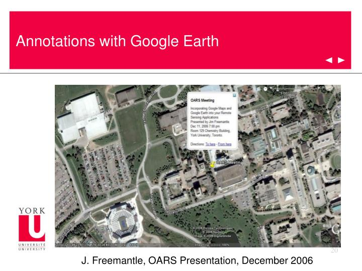 Annotations with Google Earth