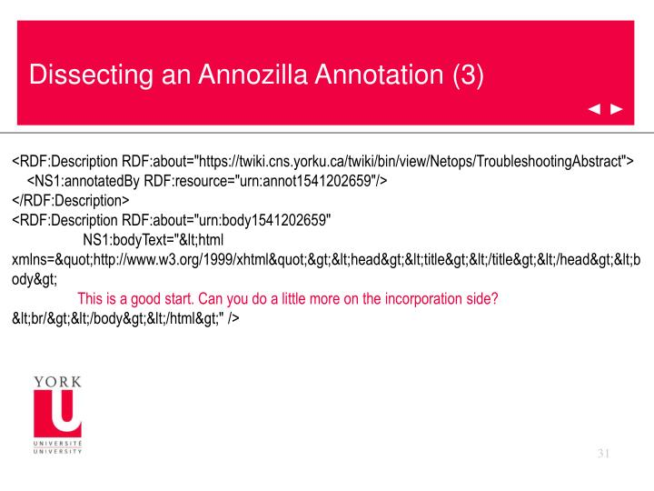 Dissecting an Annozilla Annotation (3)