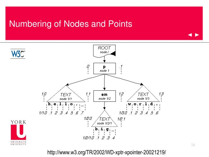 Numbering of Nodes and Points