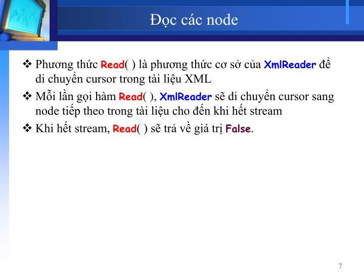 Đọc các node