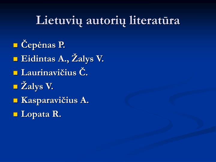 Lietuvių autorių literatūra