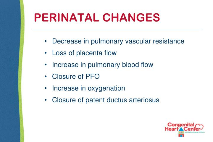 PERINATAL CHANGES