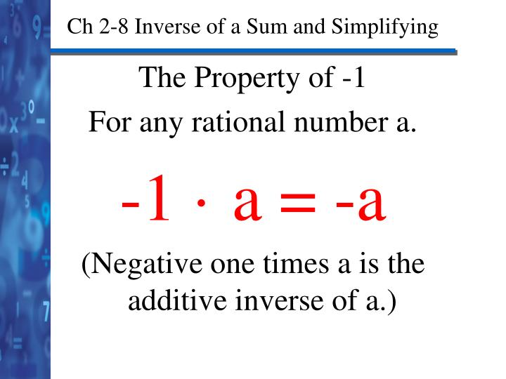 Ch 2-8 Inverse of a Sum and Simplifying