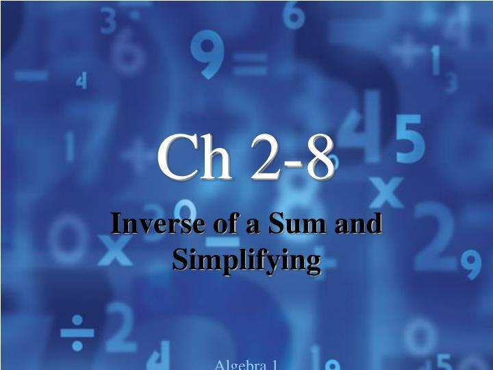 Ch 2-8