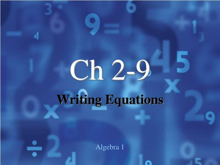 Ch 2-9