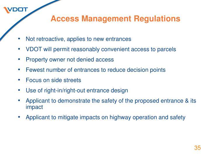 Access Management Regulations