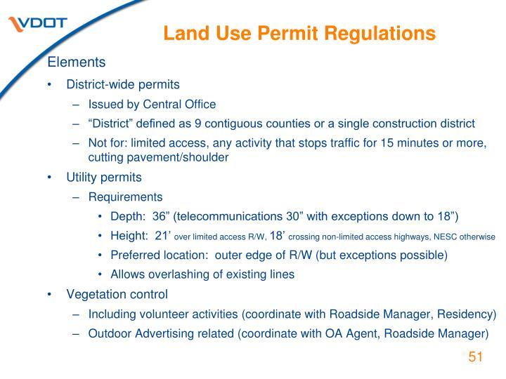 Land Use Permit Regulations