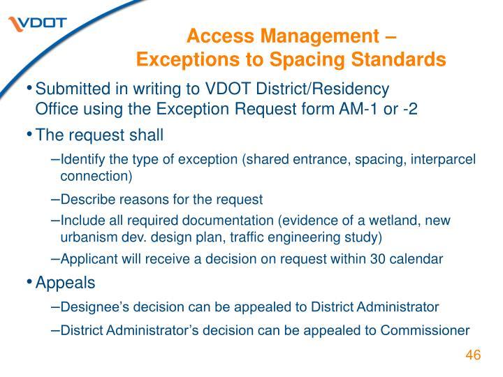 Access Management –