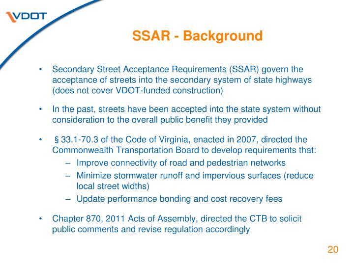 SSAR - Background