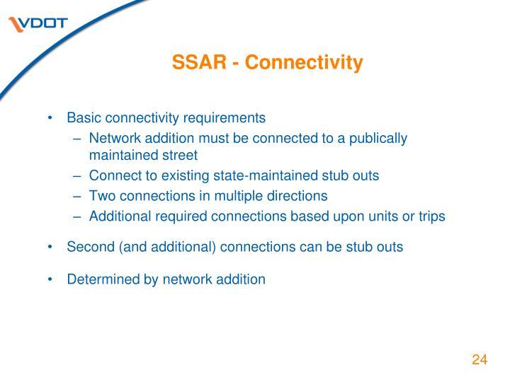 SSAR - Connectivity