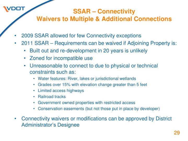 SSAR – Connectivity