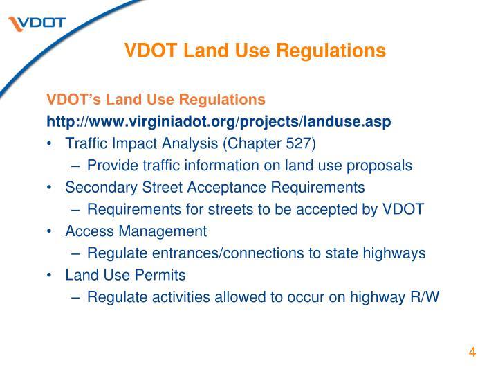 VDOT Land Use Regulations