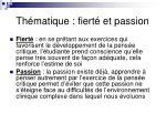 th matique fiert et passion