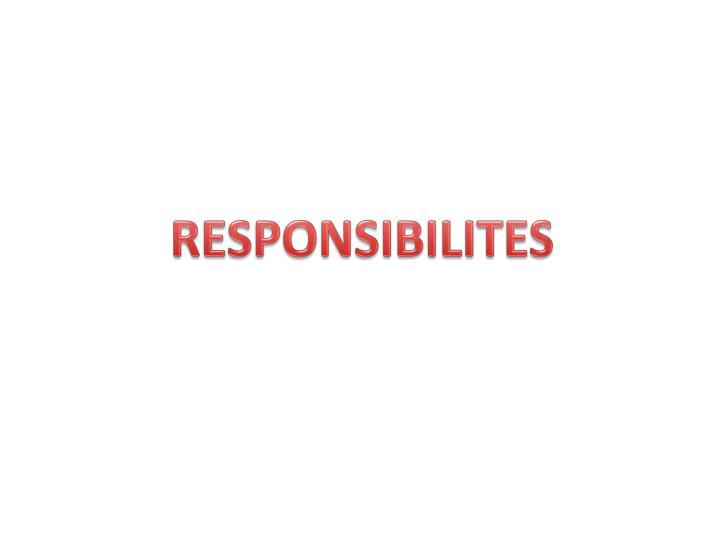 RESPONSIBILITES