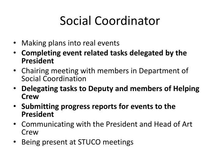 Social Coordinator