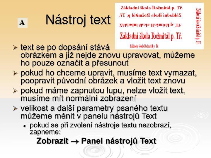 Nástroj text