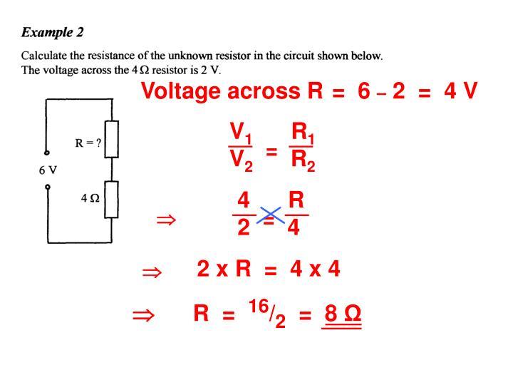 Voltage across R