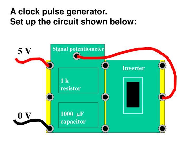 A clock pulse generator.