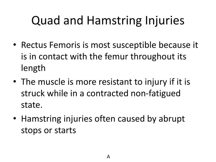 Quad and Hamstring Injuries