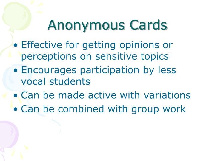 Anonymous Cards
