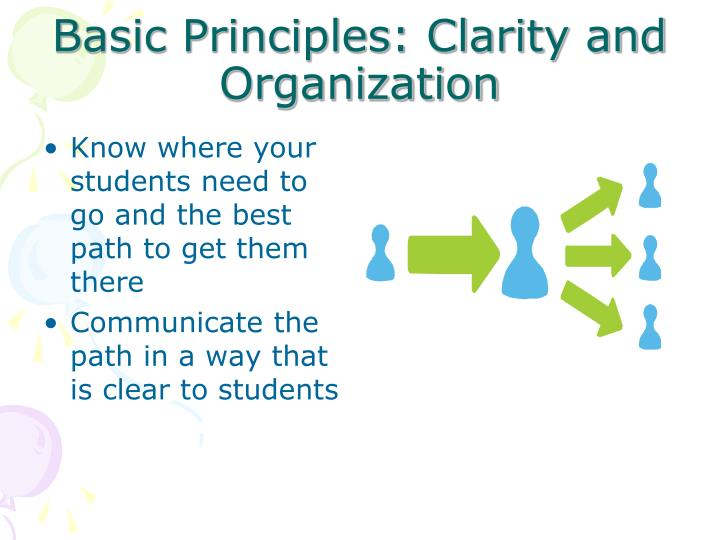 Basic Principles: Clarity and Organization