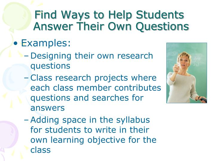 Find Ways to Help Students