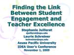 finding the link between student engagement and teacher excellence