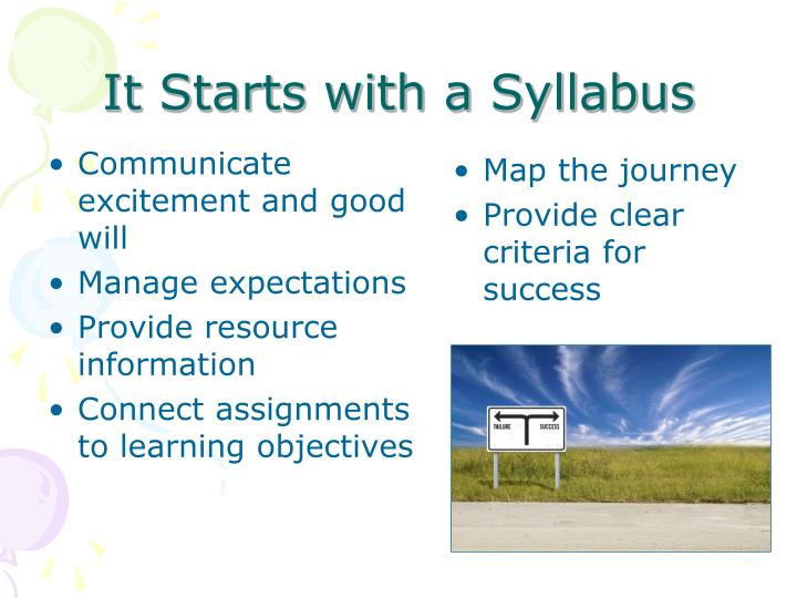 It Starts with a Syllabus