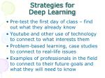 strategies for deep learning