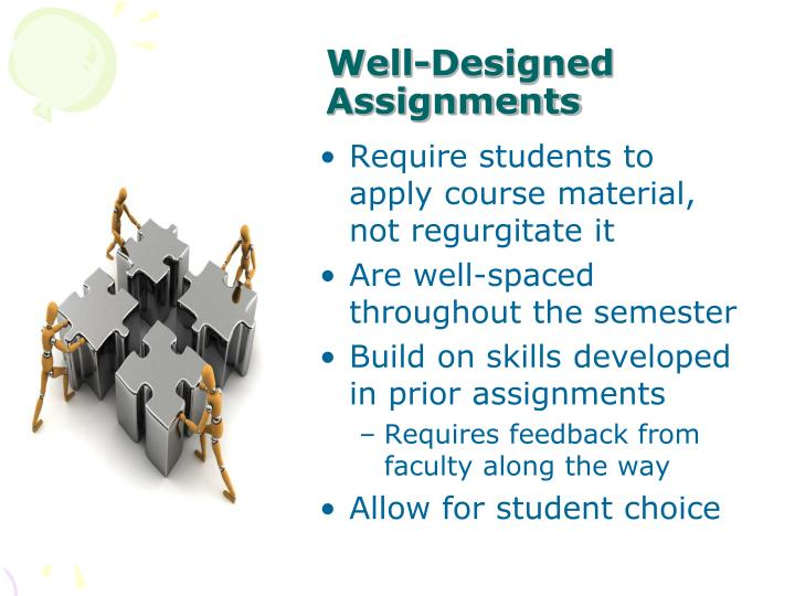 Well-Designed Assignments
