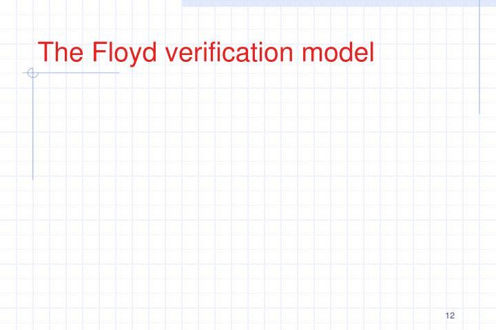 The Floyd verification model
