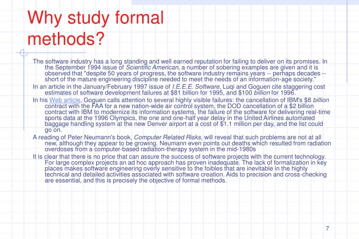 Why study formal methods?