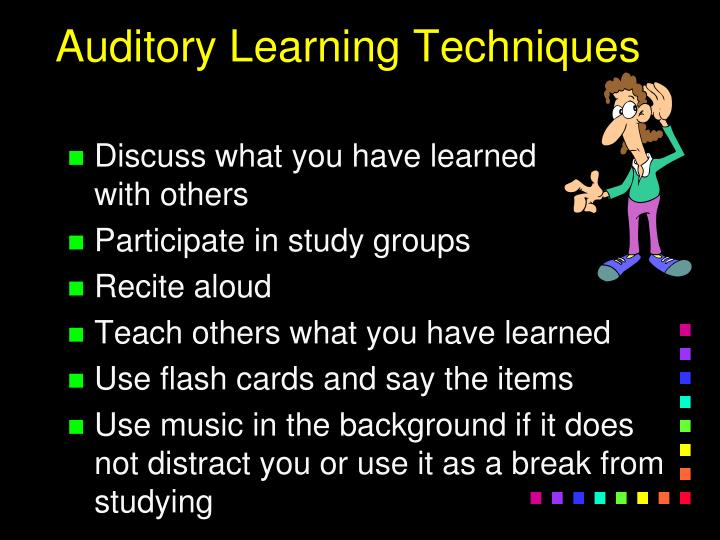 Auditory Learning Techniques