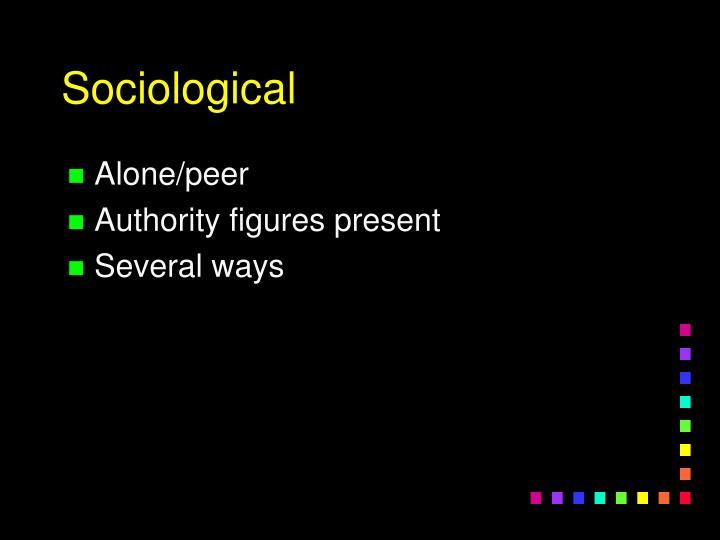 Alone/peer