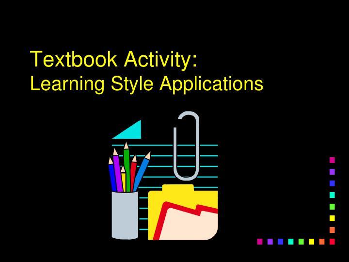 Textbook Activity:
