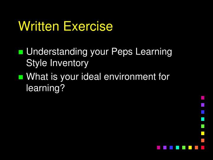 Written Exercise
