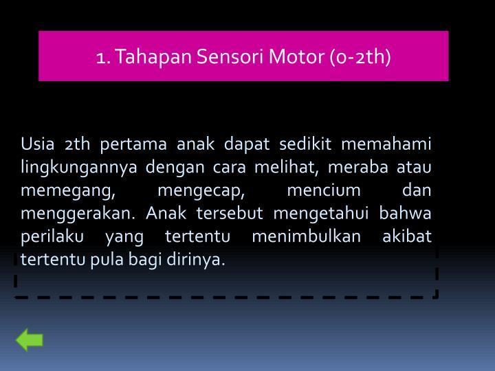 1. Tahapan Sensori Motor (0-2th)