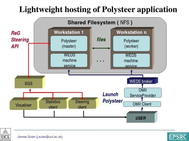 Lightweight hosting of Polysteer application