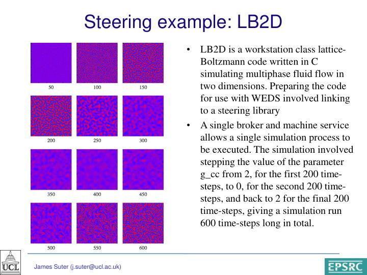 Steering example: LB2D