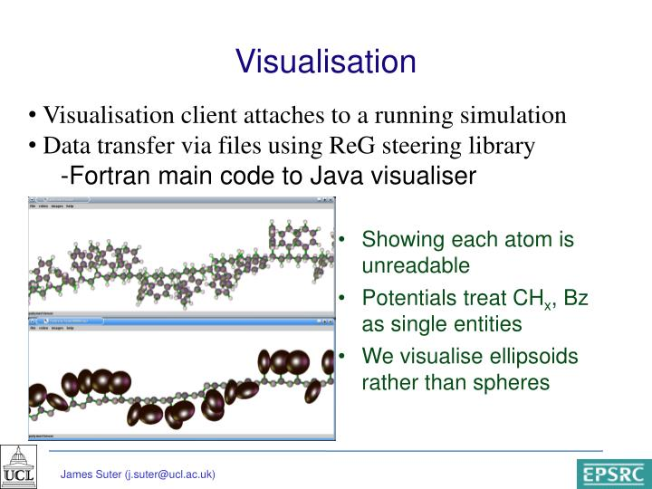 Visualisation client attaches to a running simulation