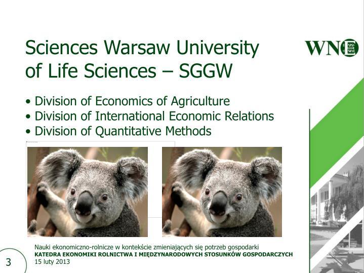 Sciences Warsaw University