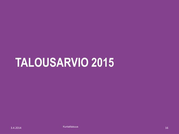 Talousarvio 2015