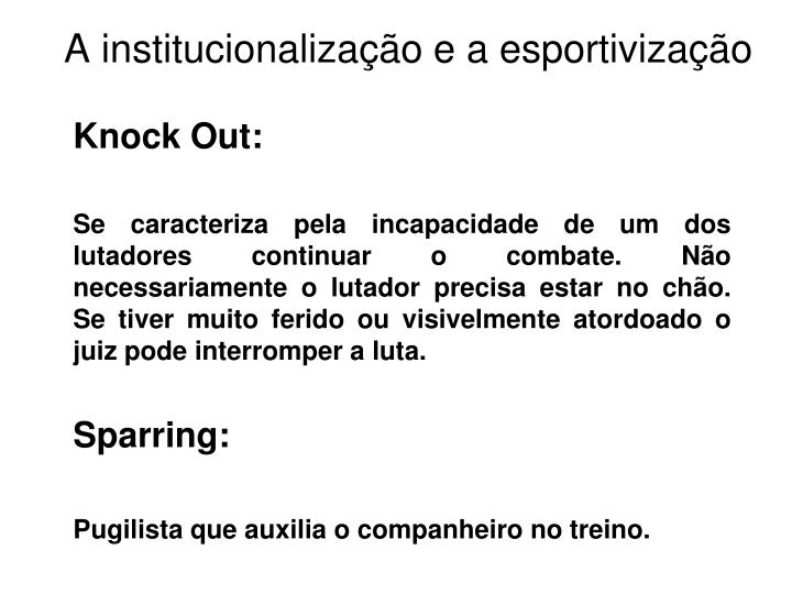 Knock Out:
