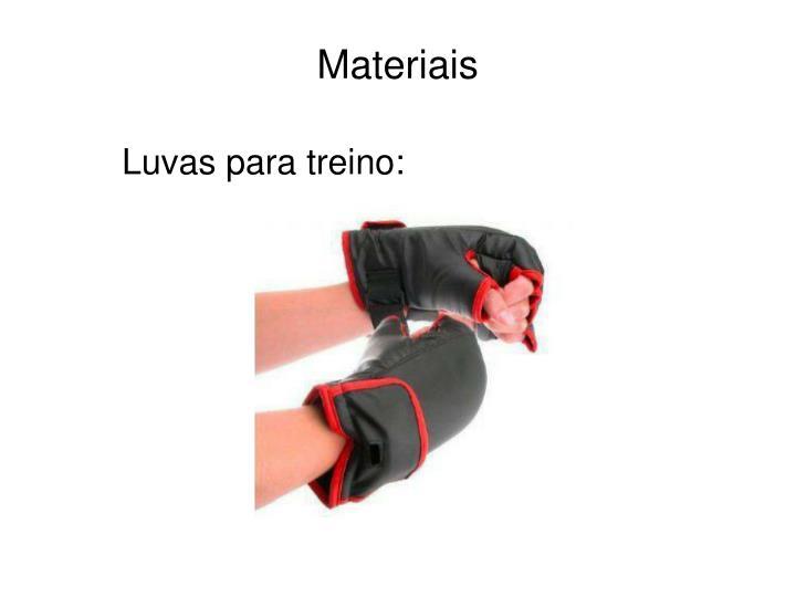 Luvas para treino: