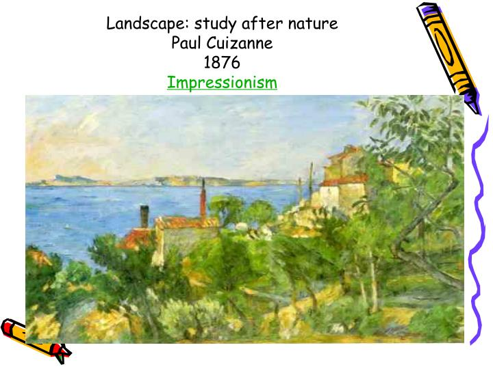 Landscape: study after nature