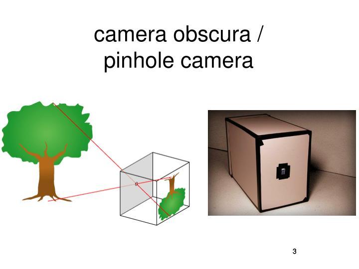 camera obscura /