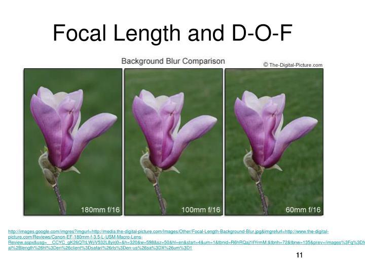 Focal Length and D-O-F