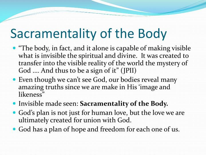 Sacramentality of the Body
